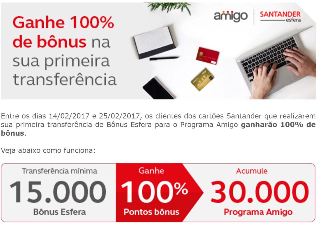 475685067 Amigo Avianca tem 100% de bônus para primeiras transferências dos cartões  Santander