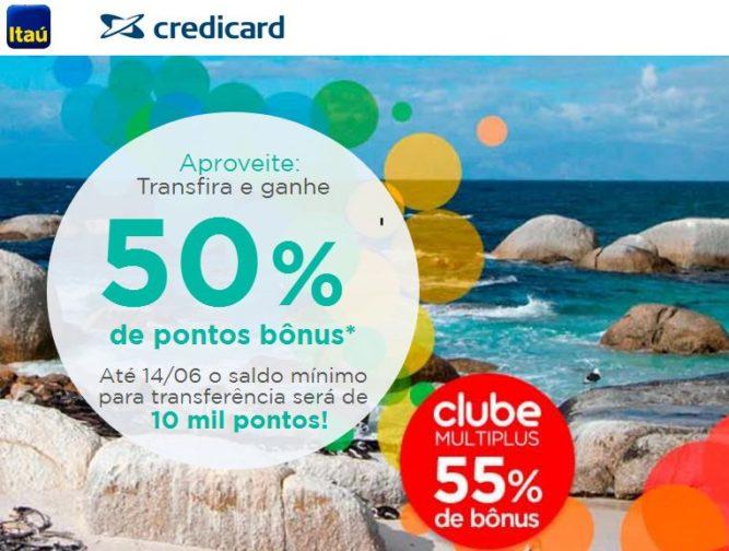 Multiplus oferece 50% de bônus para transferências de cartões Itaucard e Credicard