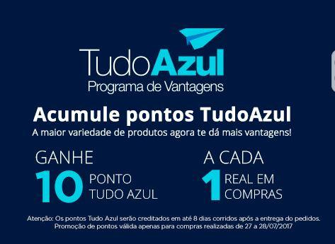 f0e665da8 TudoAzul oferece 10 pontos por real gasto na loja virtual do Ponto Frio