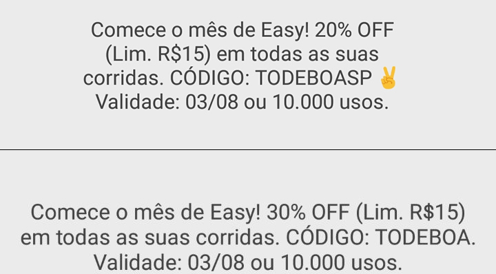 Cupons Easy - Agosto 2017