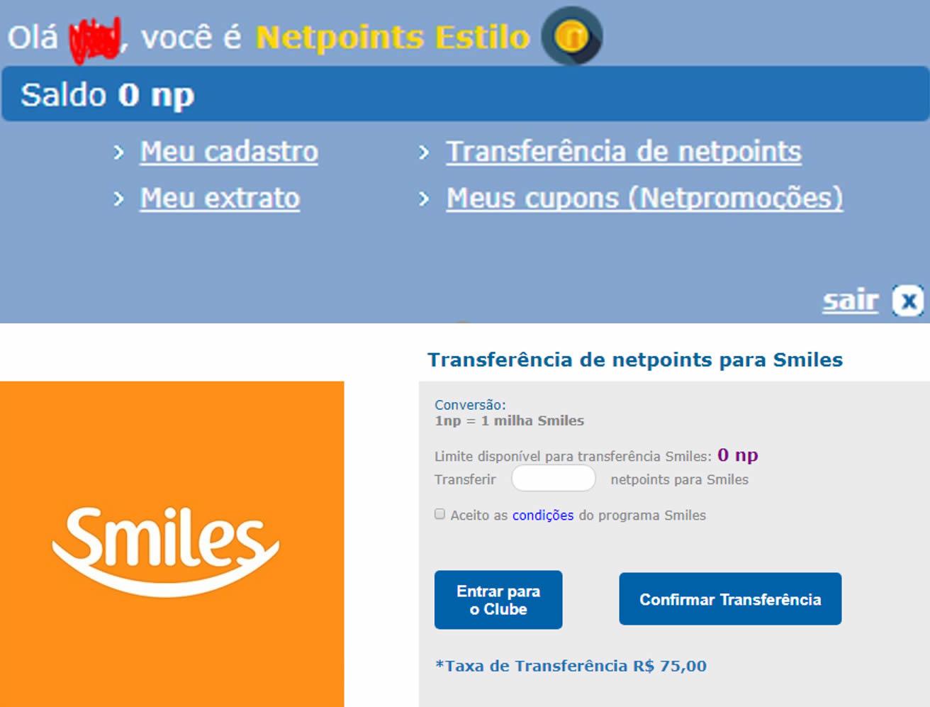 e92449616 Mudanças na Netpoints  compensa pagar a taxa de transferência para o ...