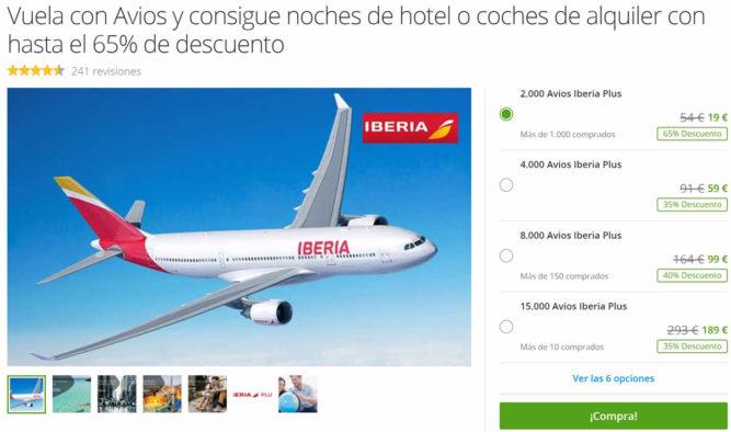 Promoção Groupon Espanha - Compra de Avios com desconto