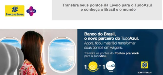 Parceria Banco do Brasil Livelo e TudoAzul