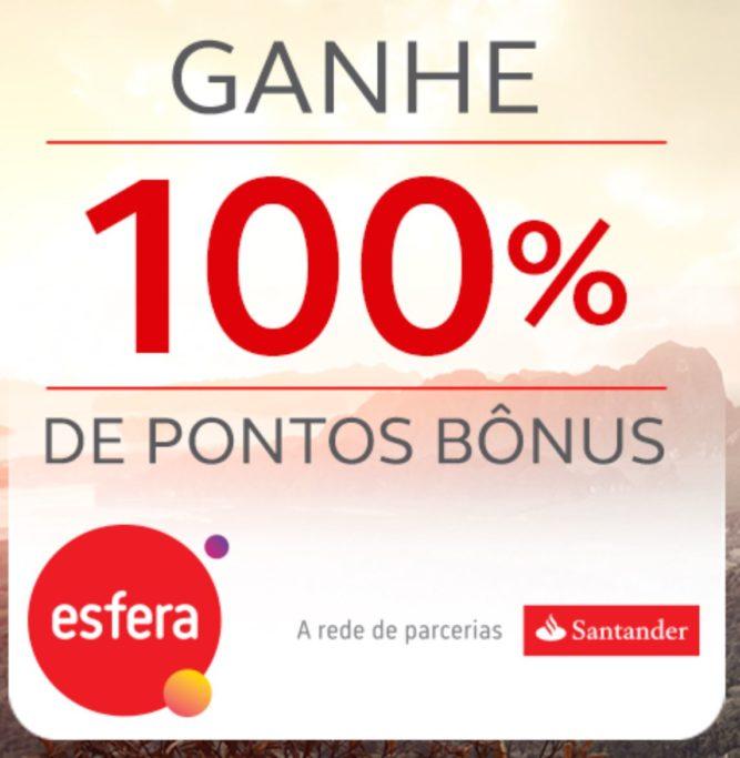 Ganhe 100% de bônus ao transferir pontos do Santander Esfera para o Programa Amigo