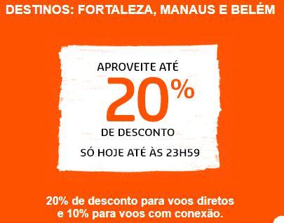 faad589bf Gol oferece até 20% de desconto para voar para Fortaleza