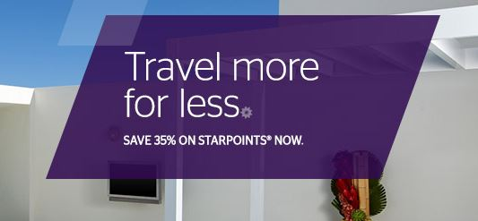 Compre pontos SPG com 35% de desconto